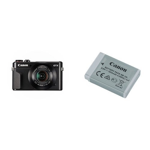 Canon PowerShot G7 X Mark II Digital Camera w/ 1 Inch Sensor and tilt LCD screen - Wi-Fi & NFC Enabled with Canon Battery Pack by Canon