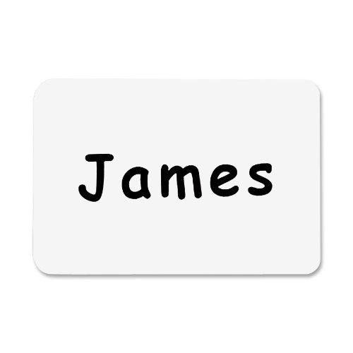 C-Line Pressure Sensitive Badges, Plain White, 3-1/2 x 2-1/4 Inches, 100 per Box (92277) Color: Plain White Size: 100-Count Office Supply -