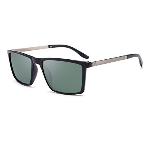 miroir protection Worclub conduite neutre UV400 carrées rétro Vert Lunettes Noir soleil classiques polarisée de qwUTp