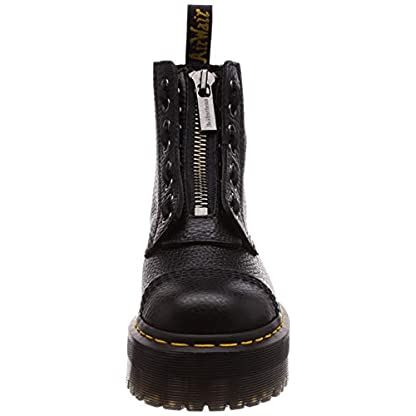 Dr. Martens Womens Sinclair Aunt Sally Black Zipper Closed Toe Ankle Boots 2