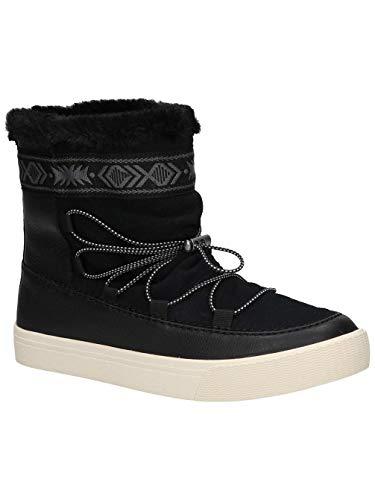 TOMS Women's Alpine Water-Resistant Boot Black Leather/Suede/Faux Fur 7 B US ()