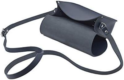 A to Z Leather Borsa a tracolla in vera pelle con chiusura a fibbia e cinturino regolabile. Le borse possono essere personalizzate con le iniziali.