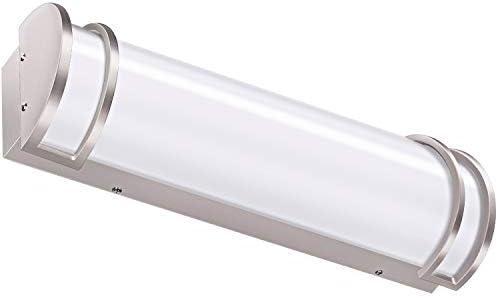 Hykolity 24 inch 25W Integrated LED Vanity Light, Dimmable Bathroom Light Fixtures Brush Nickel 120 watt Equivalent ETL Listed
