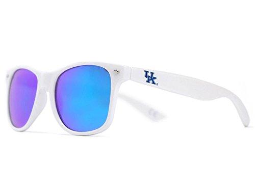 - NCAA Kentucky Wildcats KENT-4 White Frame, Blue Lens Sunglasses, One Size, White