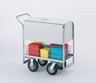 Charnstrom Security Medium Metal Cart with 3 Different Wheel Options (B280)
