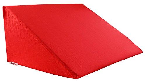 beties Big Comfy Basic Keilkissen Bezug ca. 62x49x30 cm 100% Natur Baumwolle in vielen fröhlichen Unifarben (rot)