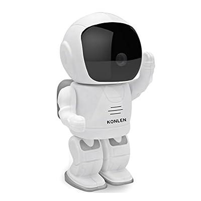 KONLEN Robot IP Camera HD WIFI 960P 1.3MP CMOS Wireless CCTV Security Cam Remote Home Monitoring P2P Pan Tilt IR Night Vision Audio Baby Monitor TF SD Card