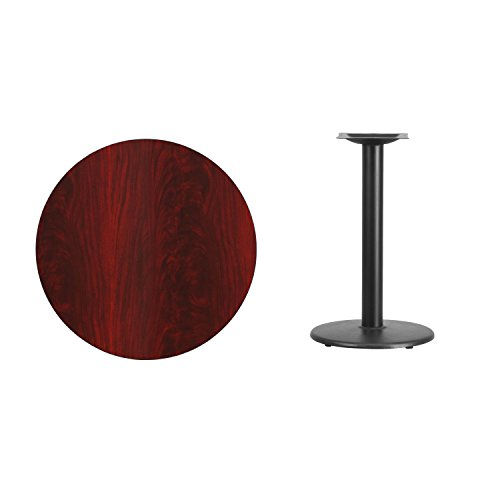 "Cheap Flash Furniture 30"" Round Mahogany Laminate Table Top with 18"" Round Table Height Base"