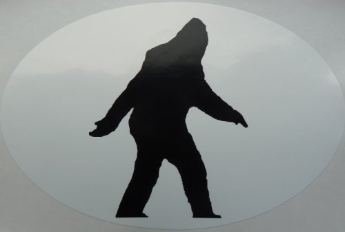 Bigfoot Sasquatch Euro Style Oval Window/Bumper Sticker 4x6