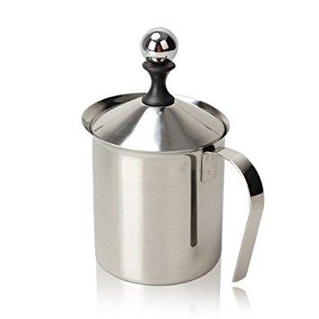 Vktech® 800ML Stainless Steel Double Mesh Milk Frother Milk Foamer Milk Creamer (800ml/27oz)
