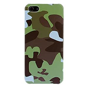 Green Camouflage Pattern Protective Hard Case for iPhone 5/5S