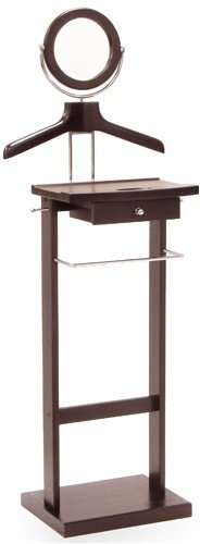 Furniture Valet Stand with Mirror and Drawer by Furniture