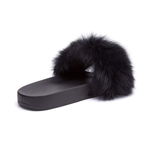 Pantofole Pelose Ec 970 Mforshop Pelo Scarpe 997 Diapositive Sandali Ciabatte Donna Pelliccia Nero 18OA6qYS