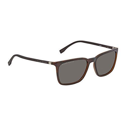 BOSS by Hugo Boss Men's Boss 0959/s Rectangular Sunglasses, DKHAVANA, 56 mm