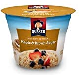 Quaker Instant Oatmeal Maple & Brown Sugar 1.69-ounce Cups (Pack of 24)