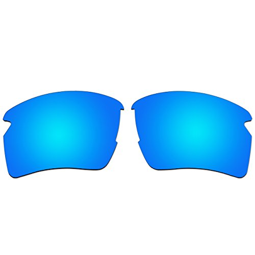 Replacement Polarized Lenses for Oakley Flak 2.0 XL Sunglasses (Ice Blue Mirror, Ice Blue - Jacket 2.0 Flak