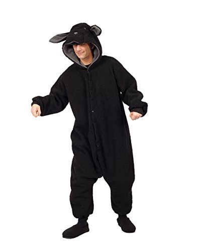 RG Costumes Wooly Sheep, Black, One (Black Sheep Costume For Adults)