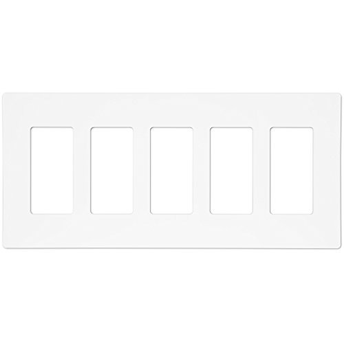 ENERLITES Screwless Decorator Wall Plates Child Safe Outlet Covers, Size 5-Gang 4.68