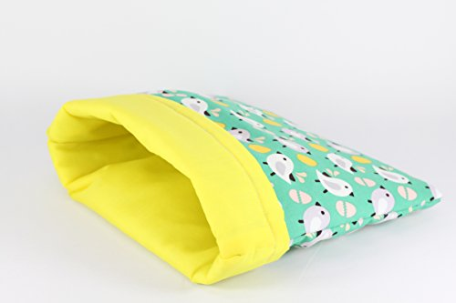 DOCHI QUEEN Birds Pattern beds for Hedgehog, Hamster and Other Small Animals. Cotton 100% Easy to Clean. Machine Washable. Water Washable. Hand-Made.Hide Out.