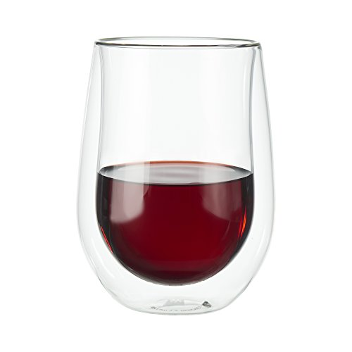 ZWILLING J.A. Henckels 39500-213 Double-Wall Red Wine Glass Set, 12 fl. oz.