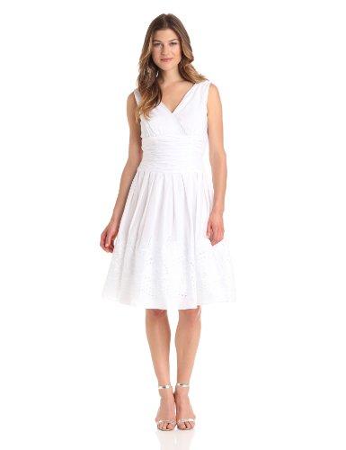 Jessica Howard Women's Sleeveless Surplus Bodice Ruched Waist Dress