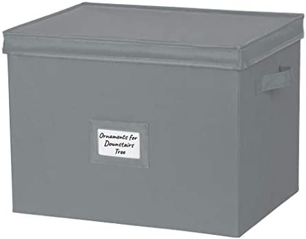 """Christmas Ornament Storage Container with Dividers – Extra Large Box Stores Up to 80-3"""" Ornaments, Convenient, Adjustable Heavy Duty Durable 600D, Organizer Bin to Protect and Store Holiday Décor"""