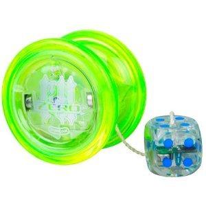Light Up Freehand Zero Yo-Yo Toy comes w/ LED counterweight flared shape, Green - Freehand Zero Yo Yo