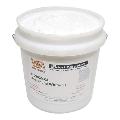 Avalanche White- Plastisol Ink, (Gallon)