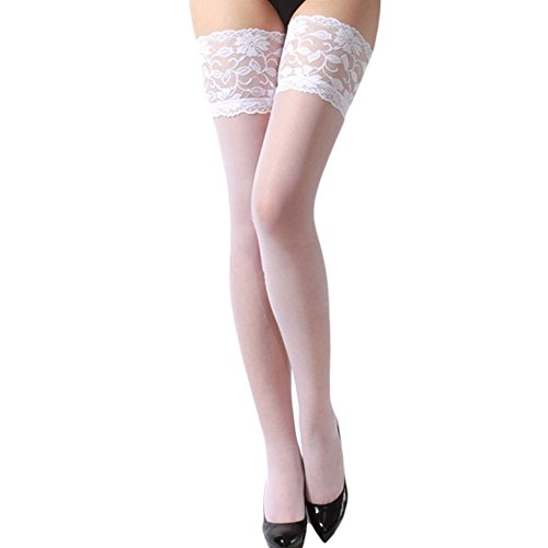 43eb9486dff 2016 Womens Sexy Sheer Lace Top Stay Up Thigh High Hold-ups Stockings  Pantyhose