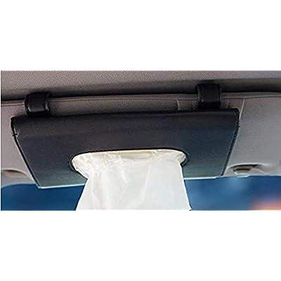 BANCHELLE Car Tissue Holder, Hanging Paper Towel Clip, PU Leather Tissue Box, Paper Carton, Paper Towel Box (Black): Home & Kitchen