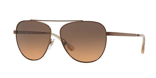 DKNY Women's Metal Woman Aviator Sunglasses, Bronze, 58 mm (Dkny Aviator Sunglasses)