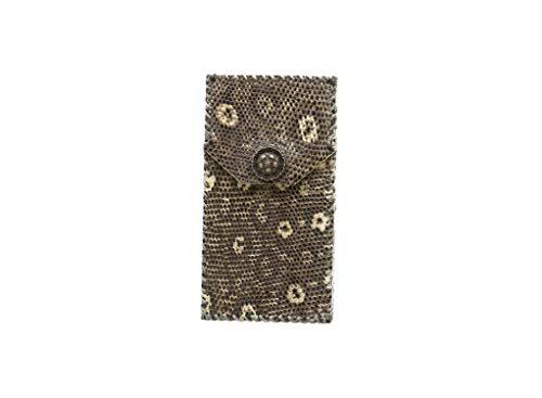 - Fashion Ultra Thin Genuine Pearl Natural Lizard Skin Women Cigaret Slim Clamshell Exquisite Gift Box Cigarette Protective Case,Lizard Skin