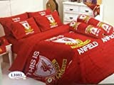 Liverpool Football Club Bedding In Bag Set (Twin Size, LI001) ; 1 Four Season Comforter with 3 pieces of Bed Fitted Sheet Set