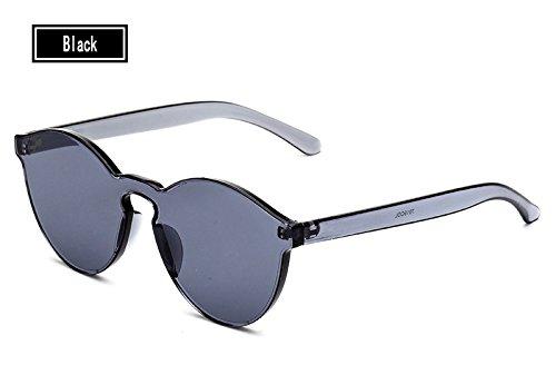 Sol del Gafas Hombre black TL Mujer Amarillo de Gafas Mujer Sol de Vintage Caramelos Gafas Sunglasses Color de Pqp8PYF