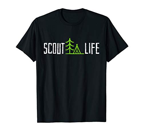 (Scout T Shirt Scouting Leader Tshirt Camping Hiking Tee Gift)