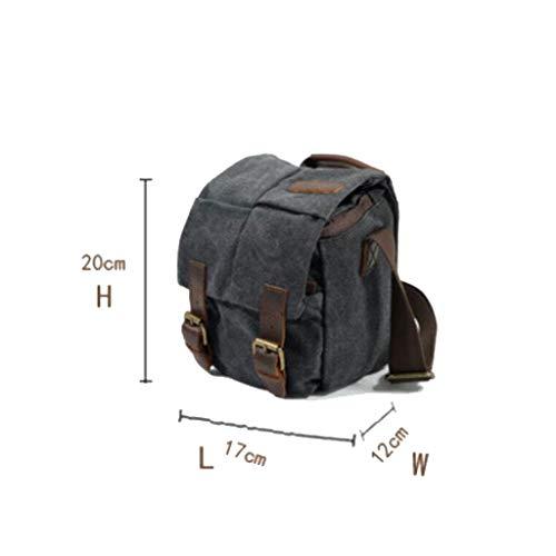 6 Gris De 4 Gran Retro 87in 69 Lona Oscuro Bolsa Slr Impermeable Capacidad Messenger Cámara Hombres Hombro Bag 72 Simple 7 qIw1AOH