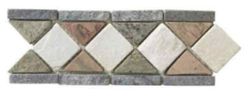 Stone Accent Strip - ICJ 99115 4-Inch by 12-Inch Slate Accent