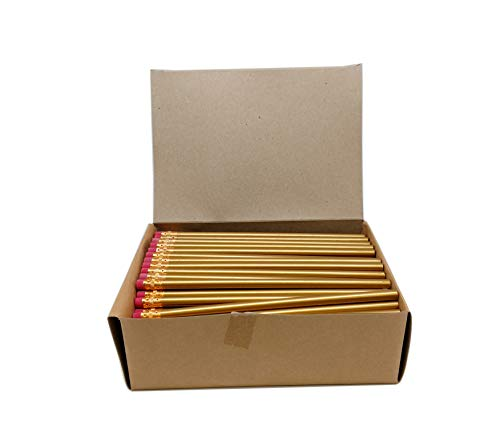 Impex Round Wood #2 HB Pencils (1 Gross, Bulk Lot of 144pcs, Classroom Set) Over 20 Colors and New Neon Styles for $<!--$12.99-->