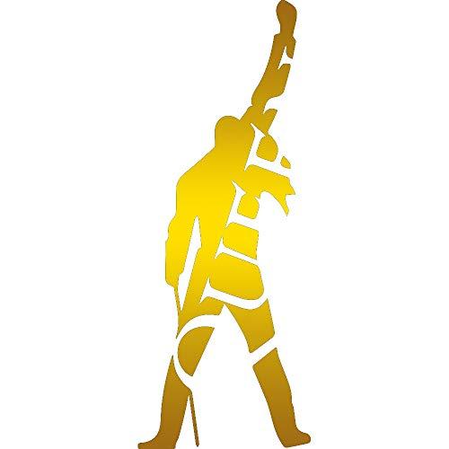NBFU DECALS Freddie - Queen (Metallic Gold) (Set of 2) Premium Waterproof Vinyl Decal Stickers for Laptop Phone Accessory Helmet CAR Window Bumper Mug Tuber Cup Door Wall Decoration