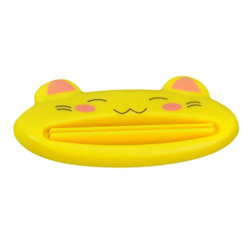 Toothpaste Cream Squeezer - 2 Pcs Home Multifunctional Bathroom Toothpaste Cream Squeezer Kitty Shape Yellow - Accessory Yellow Alpha Curtain Love Ship Dress Top Iron Carpet (Toothpaste Pizza)