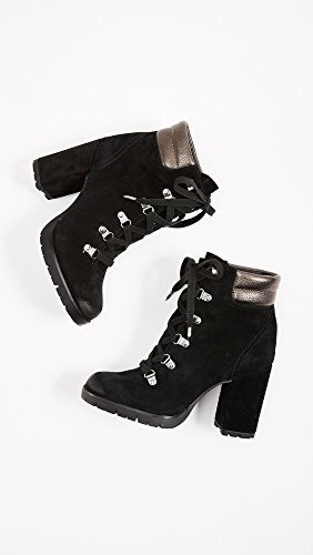 Edelman Boot Black Pewter Carolena Women's Sam Ankle pwSvq7B