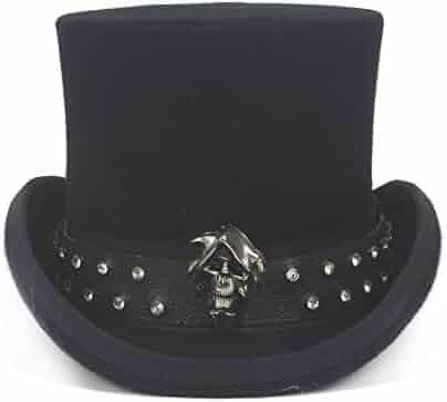 VAXT Fashion Women Men Steampunk Bowler Hat Cat Ear Luxury Fedora Hat Glasses Topper Top Hats Color : Black BLG, Size : 57-58CM