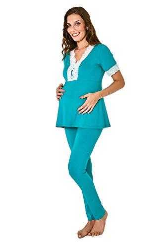 Pijama gestante amamentação manga curta