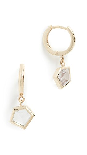 Era Women's 14k Gold Mosaic Sapphire Earrings, Yellow Gold/Multi, One Size 14k Yellow Gold Mosaic