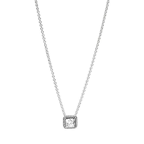 Pandora Timeless Elegance Necklace, Clear CZ 396241CZ-45 Centimeters 17.7 Inches