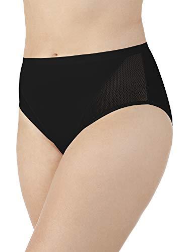 Vanity Fair Women's Sport Brief Panty 13197, Midnight Black, Medium/6