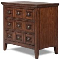 Magnussen B1398 Harrison Cherry Finish with Antique Brass Hardware Wood Nightstand