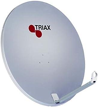 Triax TDA 88 H-1 - Antena parabólica de aluminio (88 cm), color gris [Importado de Alemania]