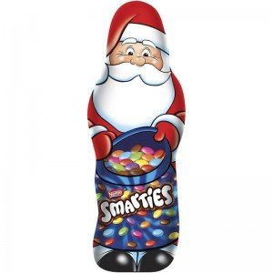 Nestle Smarties Chocolate Santa Clause Filled With - Candy With Chocolate Smarties