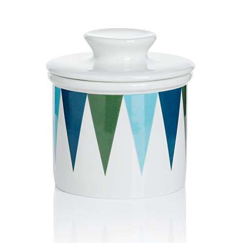 【Flash Deal】Sweese 3121 Porcelain Butter Keeper Crock - French Butter Dish - No More Hard Butter - Perfect Spreadable Consistency